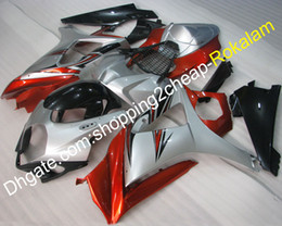 black body molding Australia - K7 GSX-R1000 07 08 Fairings For Suzuki Body Kit GSXR1000 2007 2008 Silver Black Red Street Motorcycle Fairing (Injection molding)