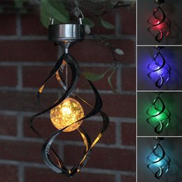 $enCountryForm.capitalKeyWord Canada - New Color Changing Solar Powered LED Wind Chimes Wind Spinner Outdoor Hanging Spiral Garden Light Courtyard Decoration