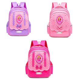 School kidS cartoon characterS online shopping - Multi function Shoulders Schoolbag Cartoon Dot Bow Zipper Waterproof Backpacks Back To School Kids Girls Shourders Bag