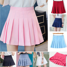$enCountryForm.capitalKeyWord Australia - Girl Pleated Tennis Skirt High Waist Short Dress With Underpants Slim School Uniform Women Teen Cheerleader Badminton Skirts