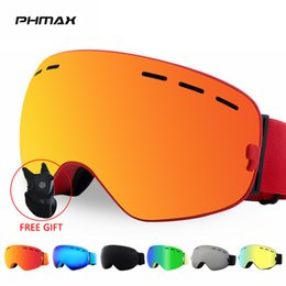 anti fog for ski goggles Canada - ports & Entertainment PHMAX Band Snowboard Goggles Double Layers Goggles Glasses for Skiing UV400 Protection Snow Ski Glasses Anti-fog S...