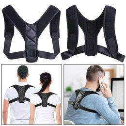 Posture Corrector Posture Corrector Adjustable Back Shoulder Correction Brace Belt Clavicle Breathable Material Humpback Back on Sale