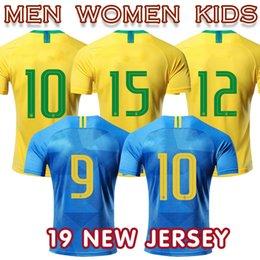 9c3078a7 2018 Brassil maillot football National Team soccer jersey Neimar  P.Caoutinhou Gesus William men women kids away home