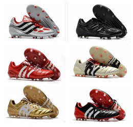 1f804cab72ea Hot 2018 Predator Accelerator Electricity FG DB Golden Zidane ZZ Beckham  Becomes 1998 98 Men soccer shoes cleats football boots Size 39-45