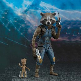 $enCountryForm.capitalKeyWord Australia - Guardians of the Galaxy action toy figrue Rocket Raccoon Groot movable model kids figures toys gift with box