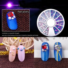 $enCountryForm.capitalKeyWord Australia - 1set Mix Size Pearl Flat Back Magic Design Mermaid Gradient Symphony Charms Beads Wheel Nail Art 3D Tips Decoration Jewelry DIY