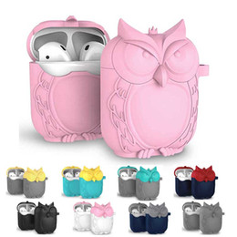 $enCountryForm.capitalKeyWord Australia - For Airpods Protective Case Wireless Bluetooth Headset Box Charging Bag Cartoon Owl Design Soft Silicone Shockproof Cover Airpod