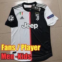 Tailand Sports RONALDO juventus 2019 2020 camisa de futebol DYBALA 18 19 20 camisa de futebol kit Top fãs versão do jogador homens mulheres crianças campeão liga Serie A