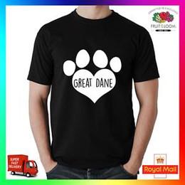 $enCountryForm.capitalKeyWord Australia - Great Dane T-Shirt Shirt Printed Tee I Love Heart Paw Dog Pet Puppy Pup Unisex