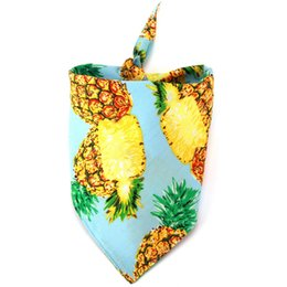 $enCountryForm.capitalKeyWord NZ - Cotton Pineapple Pattern Pet Saliva Towel Small Dogs Bandana Accessories Collar For party Pets Supplies Cat Products