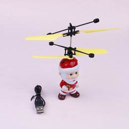 Toy Radio Control Helicopter Australia - Santa Claus Rc Helicopter Radio-controlled Toys Helicopter Infrared Suspension Flying Toy