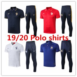 Polo shirt suits online shopping - 2019 National team frence mens T shirt Mbappé polo shirts Pogba tracksuits soccer jersey Griezmann Giroud football training suit
