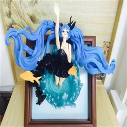 old action figures Australia - Hot Hatsune Miku Photo Frame Deep Sea Ver. 1 8 Scale PVC Action Figure Collectible Model Toys For Boys