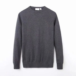 Discount mens black shirt red stitching Mens Designer Knitted Sweater Solid Color Casual Winter Sweater Male Long Sleeves Woolen Shirt Atutumn Mens Pullover