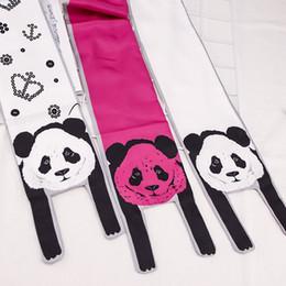 $enCountryForm.capitalKeyWord Australia - Panda Animal Scarf Dress Scarves Imitated Silk Scarf Polyester Tiger Leopard Cat Lion Tiger Print Women Summer Scarves & Wraps Bag Scarves