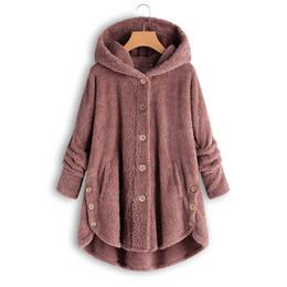 $enCountryForm.capitalKeyWord UK - S-5Xl Oversize Leopard Long Coat Women'S Jackets Winter Flannel Faux Fur Wool Blends Warm Jumper Coat Hoodie Outwear Blouson