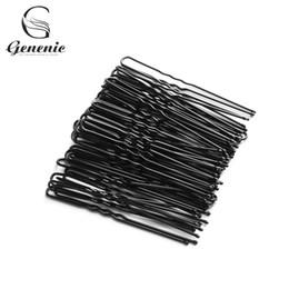 $enCountryForm.capitalKeyWord Australia - 50PCs Black Plated Metal Thin U Shape Hairpins Hair Clips Hair Styling Tools Hairdressing Accessories Pin 4.5CM 5CM 6CM 7CM