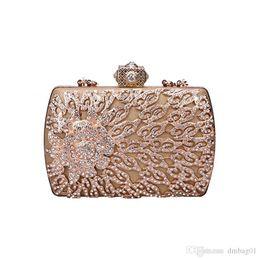 f8634b994b Pink sugao crystal Luxury evening bag shoulder bag Bling party purse Top  diamond Boutique Gold silver women wedding Day clutch handbag