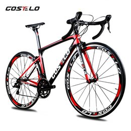 bike complete Australia - 2019 Costelo speedmachine road bicycle carbon bike complete bicycle 40mm wheels 3500 group handlebar stem bici cheap bike