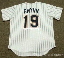 Tony gwynn jerseys online shopping - Cheap Custom TONY GWYNN San Diego Stitched Throwbacks Home Baseball Jersey Retro Mens Jerseys shirt