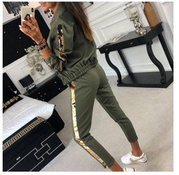 $enCountryForm.capitalKeyWord Australia - Europe and the United States 2019 spring new fashion casual sequins stitching jacket trousers sports suit women