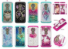 Discount butterfly hard case - For MOTO G7 Power Z4 Play G7 Plus LG Stylo 5 Bling Diamond Hybrid Owl Mandala Hard PC Case Shockproof Butterfly Bear Tow