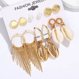 diy shell earrings Australia - Hesiod Bohemia Gold Long Tassel Drop Earrings for Women Fashion Vintage Ethnic Fringe Shell DIY Dangle Earring 2019 Jewelry