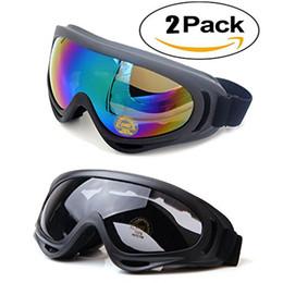 $enCountryForm.capitalKeyWord Australia - 2pcs lot Ski goggles Anti-fog Winter skiing Adjustable snow goggles snowboard goggles 100% Anti-UV Skate Glasses for Adult Kids