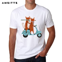 $enCountryForm.capitalKeyWord Australia - 2019 Newest Funny foxes ride scooter T Shirt Men's High Quality Animal Printed T-Shirt Summer Novelty Male Tee Tops Clothes