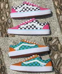bc496e1db9728d Golf Wang NZ - 2019 Golf Wang Old Skool Checkered Designer Shoes zapatillas  de deporte Womens