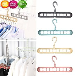 shirt hangers NZ - 9 Holes Magic Clothes Hanger Multifunctional Closet Organizer Rack Hook Space Saving Holder Wardrobe Folding Hooks