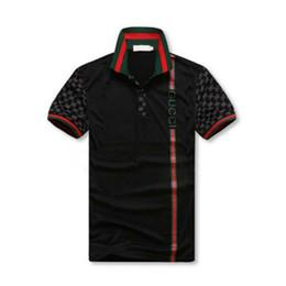 Vente en gros Hommes Designer Polo Chemises Polo D'été De Luxe Hommes Chemise Lâche Respirant Rayé Lettre Imprimer Mode Casual Style Marque Chemise Business Affai