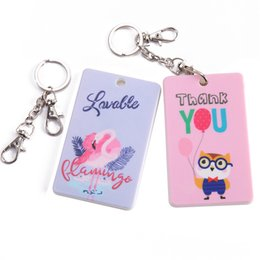 $enCountryForm.capitalKeyWord Australia - Korean Cartoon Bus Card Holder Children Id Card Cover Cute Cat Student Key Ring Credit Cards Protector New Women Bank Card Case