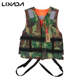 Jacket Fish Australia - vest Lixada Camouflage Green Vest Adult Lifesaving Life Jacket Clothing Safety Survival Suit Swimming Drifting Fishing
