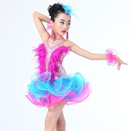 0cf42119343 Le costume de dancewear des filles de jazz badine la danse de danse de  salon de paillettes du latin moderne Moderne des vêtements de robe de tutu  de danse ...