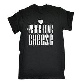 958a93b4f Peace Love Cheese T-SHIRT Food Kitchen Cook Cooking Chef Funny Gift  Birthday tee Shirts Printing Funny T-Shirt Hipster Summer Top Tee