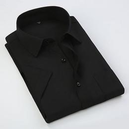 $enCountryForm.capitalKeyWord UK - Plus Size S- 8XL Casual Social Business Easy-care Short Sleeve Dress Men Shirt Large Size Soft Comfortable Pure Color