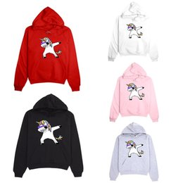 sweater cartoon couple Australia - Wonderful Unicorn Printed Couple Hooded Sweater Cartoon Long Sleeve Sweatshirts Unisex Casual Hoodies Jacket Pullover Sweater