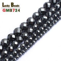 $enCountryForm.capitalKeyWord NZ - hematite stone Natural Faceted Black Hematite Stone For Jewelry making 15inches 2 3 4 6 8 10mm Spacer Beads Diy Jewelry