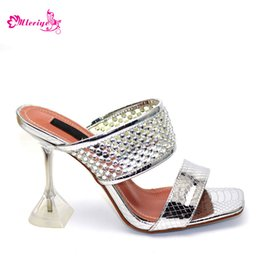 $enCountryForm.capitalKeyWord Australia - New Arrival Sliver Color Italian Design Women Shoe High Quality Slip on Summer Slipper Shoes Sexy Lady High Heels Shoes for Party