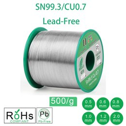 soldering wire lead free NZ - Cheap Welding Wires 500g 1.1LB Lead Free Solder Wire Sn99.3 Cu0.7 Rosin Core for Electrical Solder RoHs