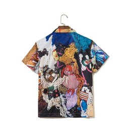 shirts dolls Australia - 18FW Mike Kelley More Love Hours Rayon Shirt Artist Jointly Cartoon Doll Printed Polo Shirts Fashion Mens designer t Shirt HFWPTX233