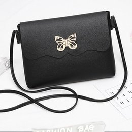 Wholesale Cheap Fashion Women Fashion Small Soft Metal Butterfly Messenger Casual Shopping Office Party Bags Square Shoulder Bag