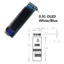 $enCountryForm.capitalKeyWord NZ - 0.91 inch 12832 white and blue color 128X32 OLED LCD LED Display Module 0.91 IIC Communicate for arduino Diy Kit