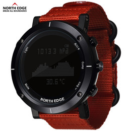 thermometer smart watch Australia - Smart Watches Men Outdoor Sports Watch Waterproof 50m Fishing Altimeter Barometer Thermometer Compass Altitude Hours North Edge Y19062004