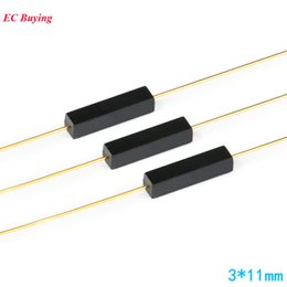 normally open switch UK - Electronic Components & Supplies 10Pcs Plastic Reed Switch 3*11mm Magnetic Reed Switchs Sensor Normally Open DIY Kit Electronic NO