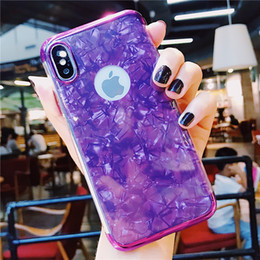 $enCountryForm.capitalKeyWord Australia - Fashion Cool Sea Shell Design Dropproof TPU Soft Cover Skin Back Glossy Electroplate Phone Case cover For IPhone X XS XR XS MAX 6 7 8 plus