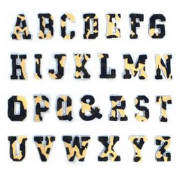 $enCountryForm.capitalKeyWord NZ - 10pcs lot Tower Paste Alphabet Letters Camouflage DIY Patch with Embroidery Cloth Paste Accessories Applique Badge Accessories Need to Sew