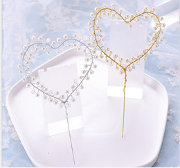 ClassiC birthday Cakes online shopping - Handmade peach heart cake decoration birthday cake decoration baking accessories