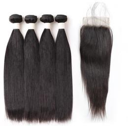 Discount brazilian human hair 28 inches - Straight Hair 4Bundles 8-28 inch Remy Human Hair 9A Loose Wave Deep Curly Body Wave Straight Color 1B Black Hair Bundles